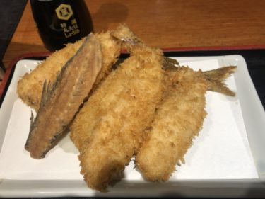 京橋「京ばし松輪」行列のあじフライ定食